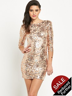 tfnc-paris-floral-sequin-bodycon-dress