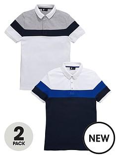 v-by-very-2-pack-chest-stripe-pique-polo