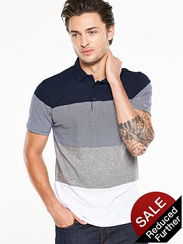 v-by-very-short-sleeve-textured-polo