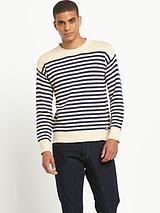 Striped Crew Neck Knit