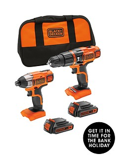 black-decker-bdchim18b-gb-18v-lithium-ion-twin-pack-kit-contains-18v-hammer-drill-18v-impact-driver-2-x-15ah-batteries-1-x-charger-softbagnbspfree-prize-draw-entry