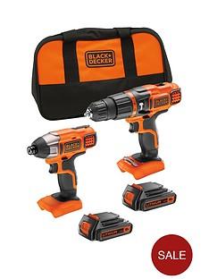 black-decker-bdchim18b-gb-18v-litium-ion-hammer-drill-amp-impact-driver-with-storage-bag