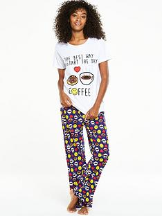 emoji-emoji-i-love-coffee-pj-set