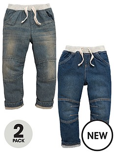 mini-v-by-very-boys-rib-waist-jeans-2-pack