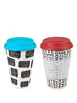 Cambridge Bamboo Positive Thoughts and Coffee Aroma Sippy Mug Set of 2