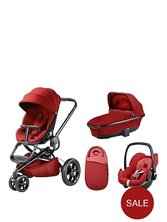 quinny-moodd-pushchair-foldable-carrycot-pebble-car-seat-package-red-rumour