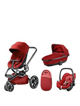 Quinny Moodd Pushchair Foldable Carrycot Pebble Car Seat Package  Red Rumour