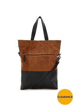 superdry-suede-leather-foldover-shoulder