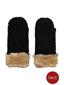 superdry-bobble-stitch-faux-fur-edge-mitten
