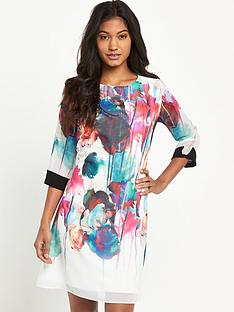 little-mistress-bright-floral-shift-dressnbsp