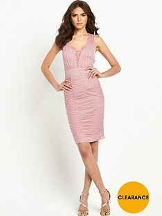 little-mistress-embellished-ruched-mesh-bodyconnbsp
