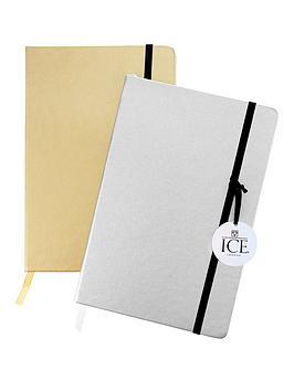 Ice London Ice London Set Of 2 A5 Metallic Notebooks