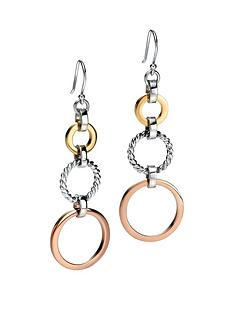 fiorelli-sterling-silver-three-colour-rhodium-plated-open-disc-earrings