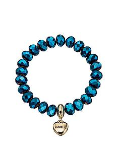 fiorelli-fiorelli-metallic-blue-bead-bracelet-with-gold-tone-heart