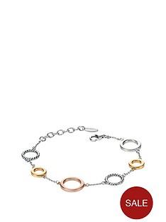 fiorelli-fiorelli-sterling-silver-three-colour-rhodium-plated-open-disc-bracelet