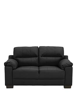 Very Saskia Leather/Faux Leather 2 Seater Compact Sofa Picture
