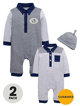 ladybird-baby-boys-polo-rompers-and-hat-set-2-pack