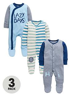 ladybird-baby-boys-stripe-sleepsuits-3-pack
