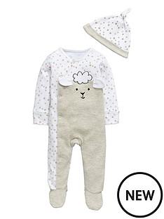 ladybird-baby-unisex-sleepsuit-and-hat-set