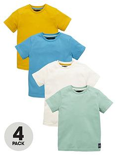 mini-v-by-very-boys-plain-t-shirts-4-pack