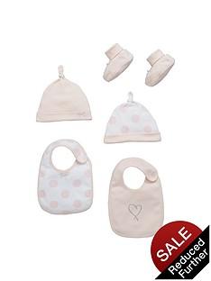 ladybird-baby-girls-bibs-hats-and-booties-accessory-set-5-piece