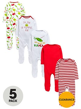 ladybird-baby-unisex-bright-sleepsuitsnbsp5-pack
