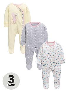 ladybird-baby-girls-floral-and-spot-sleepsuits