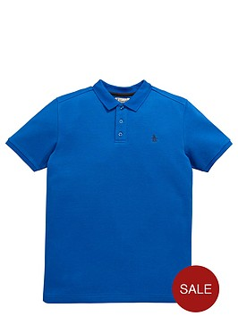 penguin-ss-classic-polo-strong-blue