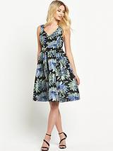 Midi Jacquard Prom Dress