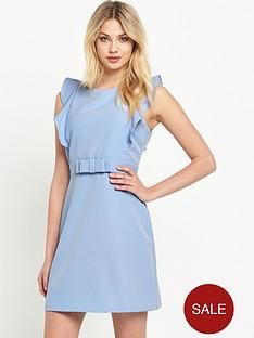 v-by-very-ruffle-sleeve-bow-detail-dress
