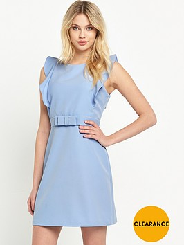 v-by-very-ruffle-sleeve-bow-detail-dress