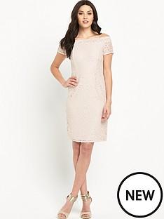 wallis-lace-bardot-dress