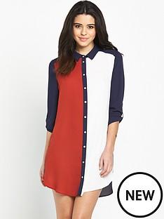 wallis-wallis-colourblock-shirt-dress