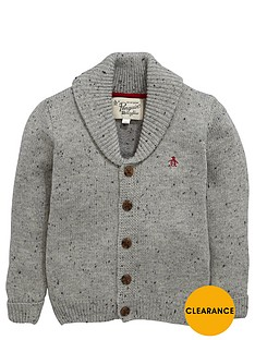 penguin-shawl-collar-cardigan
