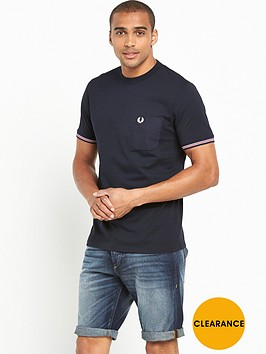 fred-perry-bomber-stripe-cuff-t-shirt