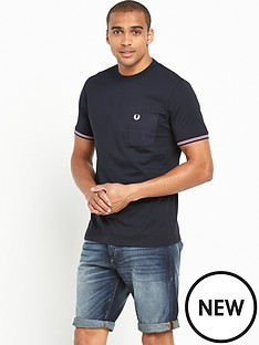 fred-perry-fred-perry-bomber-stripe-cuff-t-shirt