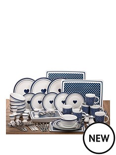 french-navy-blue-heart-combo-set-70-piece