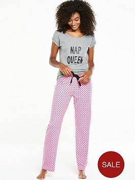 v-by-very-everyday-essentials-nap-queen-night-t-shirt-pyjama-set