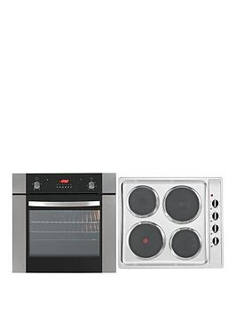 Iberna Single Fan Oven And Electric Hob Hof615.1Set Pack