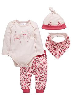 ladybird-baby-girls-animal-print-layette-set-4-piece