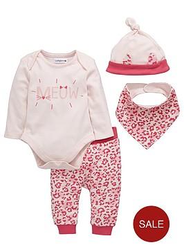 ladybird-baby-girls-animal-print-layette-set-4-piece