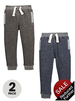 mini-v-by-very-boys-twist-marl-fashion-joggers-2-pack