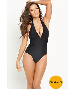 v-by-very-controlwear-ruched-halter-neck-swimsuit