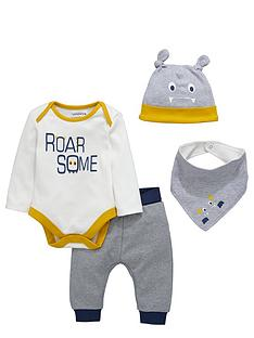 ladybird-baby-boys-monster-layette-outfit-4-piece