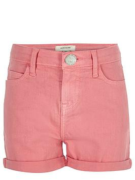 river-island-girls-pink-shorts