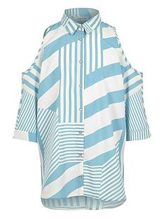 river-island-girls-stripe-cold-shoulder-shirt