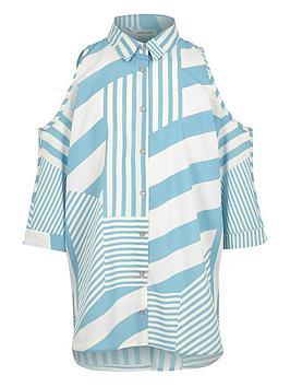 river-island-girls-stripe-cold-shoulder-shirt