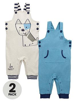 ladybird-baby-boys-soft-dungarees-2-pack