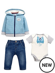 ladybird-baby-boys-3pc-hoody-bodysuit-and-jean-set