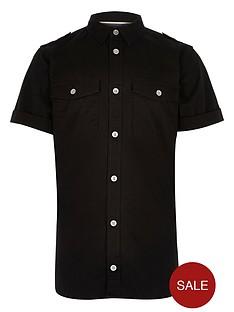 river-island-boys-black-military-shirt